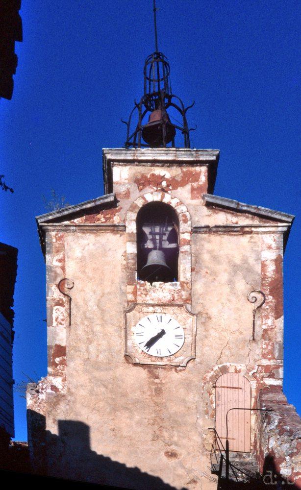Le Beffroi de Roussillon en 1988.