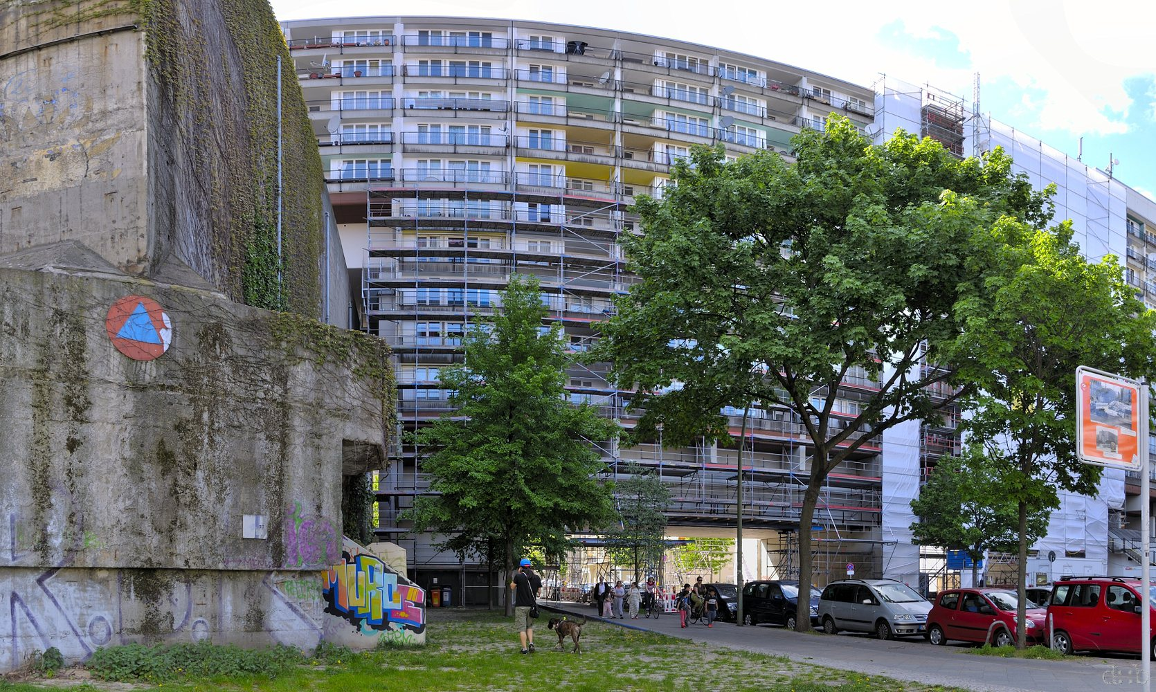 The Nazi bunker in Berlin Schöneberg, today enclosed by an appartment complex.