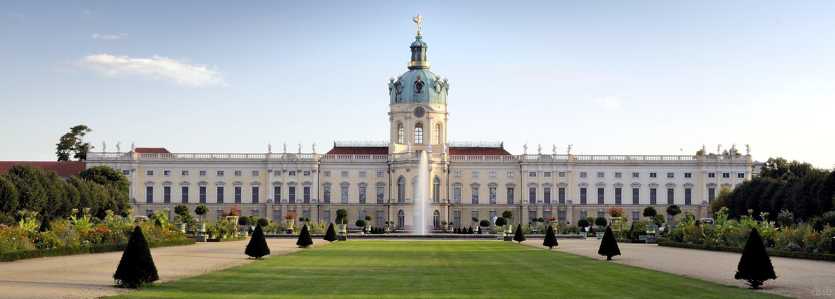"Berlin's Schloss Charlottenburg, seen from the ""back yard"""