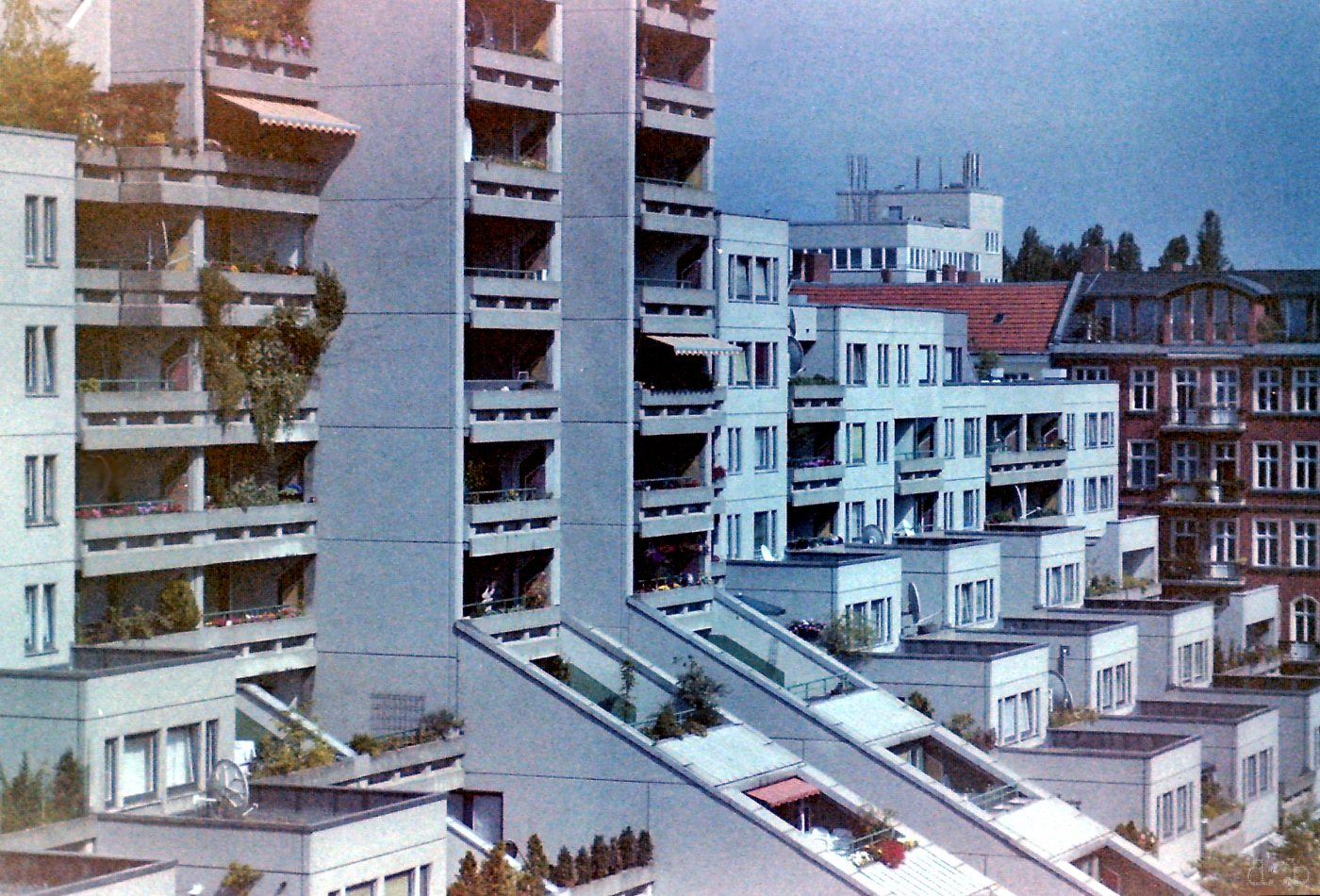 "The ""Schöneberger Terrassen"" plattenbau complex in (former West) Berlin."