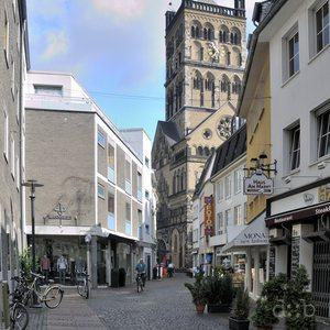 The old town of the (formerly Roman) city of Neuss.