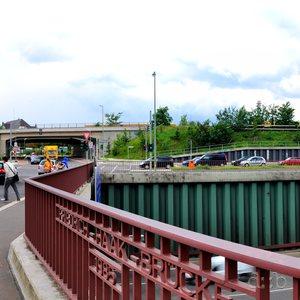 Berlin Stadtautobahn at Sachsendamm in Schöneberg.