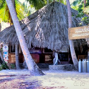 A diving school on a Maldivian island.