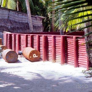 Diesel power station on a Maldivian tourist island.