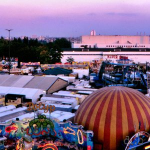 The German-French Volksfest 1986, seen from the  top of the Ferris wheel.