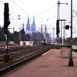 Cologne with the Kölner Dom, seen from Deutz (straight across the Rhine) round 1987.