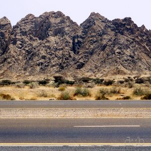 Motorway E44 close to the Oman/Dubai border
