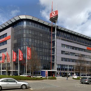 An office building at Weilimdorf, near Stuttgart, used by the Vodafone group.