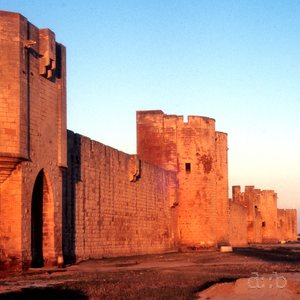 The historic city wall of Avignon, France, in 1988.
