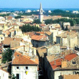 Central Avignon, southern France, in 1988.
