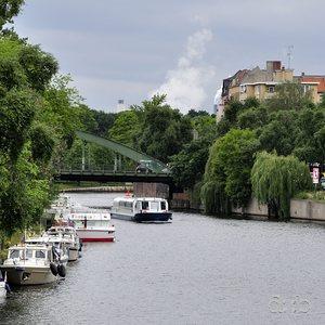 The river Spree in Berlin Charlottenburg, near the Schloßbrücke.