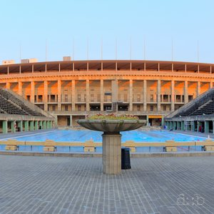 Today's remainders of the audience stands in Berlin's olympic swimming stadium