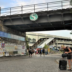 Contemporary scene at the hipster side of Berlin's Ostkreuz station
