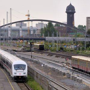 Berlin Ostkreuz station, during its long-time reconstruction, seen from Warschauer Brücke.