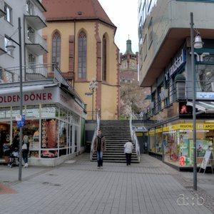 360° panorama of Westliche Karl-Friedrich-Straße in Pforzheim.