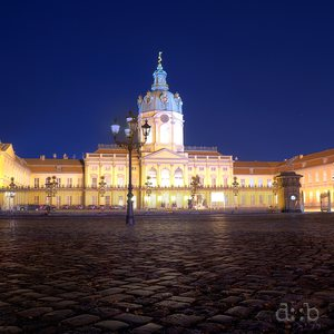 The nightly illuminated Charlottenburg Palace