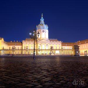 The nightly illuminated Charlottenburg Palace