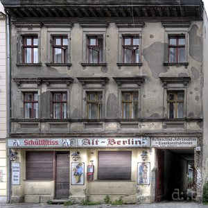 Facade of one of Charlottenburg's (and maybe Berlin's) oldest still existing houses from the late 19th century