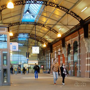Nijmegen central station's hall, here still with the colorful public piano