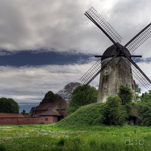 A windmill, still outside the mining area for a short period