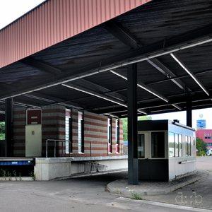 The former customs terminal at Berlin Dreilinden border station.