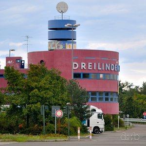 Main building of former roadhouse Dreilinden in Berlin Zehlendorf.