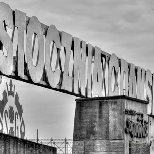 Main entrance gate of the Gdansk dockyards, closely related to the anti-communist revolution led by Solidarnosc Union workers.