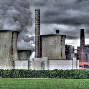 German lignite power plant Neurath in the Grevenbroich area near Düsseldorf