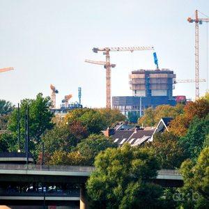 "Visible progress on the Vodafone Düsseldorf ""campus"" construction site."