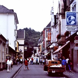 The main shopping street of Königswinter, near Bonn, in 1988.