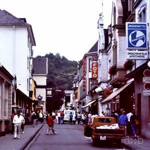 The main shopping street of Königswinter, near Bonn, in 1988.