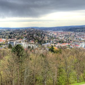 Panoramic view of Pforzheim and the surrounding landscape
