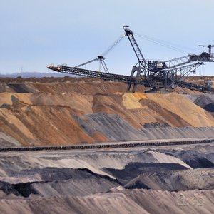 Soil dumpers at the Garzweiler lignite mine near Düsseldorf.