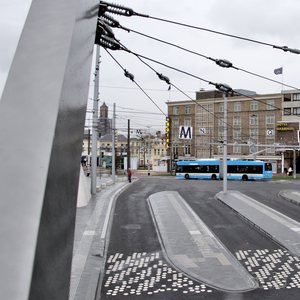 The then-new trolley bus terminal at Arnhem central station