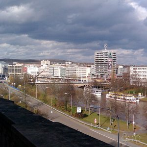 Panoramic view of Saarbrücken, taken with a mid-range smart phone.