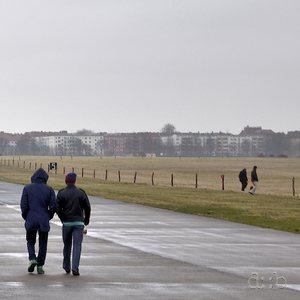 "Runway at Berlin Tempelhof airport, famous during the Berlin Blockade as part of operation ""Vittles"""