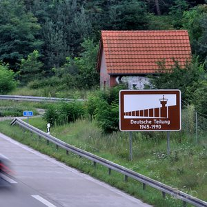 Berlin's Avus Autobahn right between the former two German border control posts Dreilinden and Drewitz.