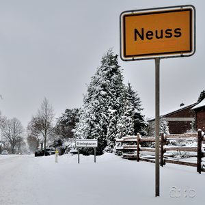 Neuss Grimlinghausen on a cold and white Christmas Eve.